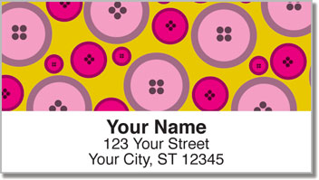 Button Collection Address Labels