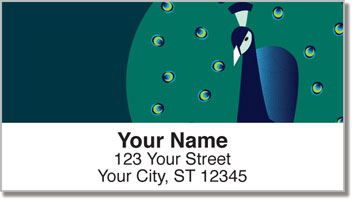 Proud Peacock Address Labels