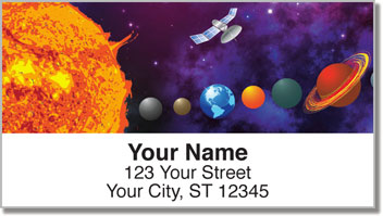 Solar System Address Labels
