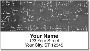 Math Equation Address Labels