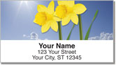 Simple Flower Address Labels