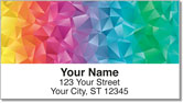 Rainbow Colors Address Labels