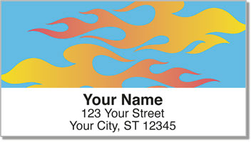 Flame Graphic Address Labels