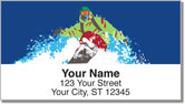 Ski & Snowboard Address Labels