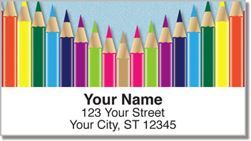 Colored Pencil Address Labels