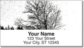 Winter Tree Address Labels