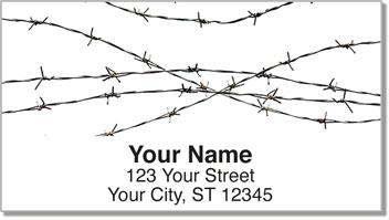 Barbed Wire Fence Address Labels