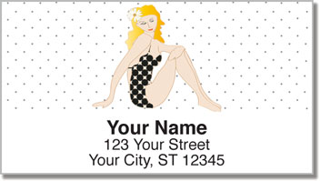 Vintage Pinup Address Labels