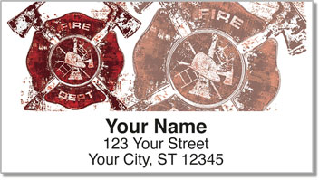 Firefighter Hero Address Labels