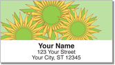 Retro Sunflower Address Labels