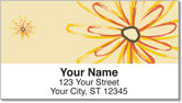 Flower Sketch Address Labels