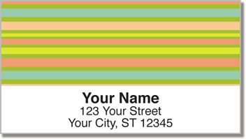 Horizontal Stripe Address Labels