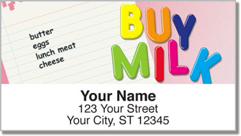 Fridge Note Address Labels