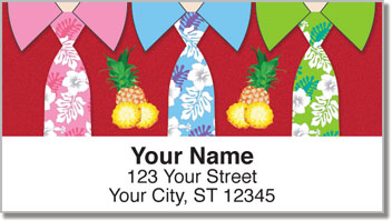 Crazy Necktie Address Labels