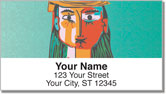 Picasso Portrait Address Labels