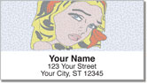 Retro Art Address Labels