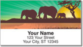 Safari at Sunset Address Labels