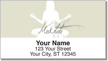 Meditation Address Labels