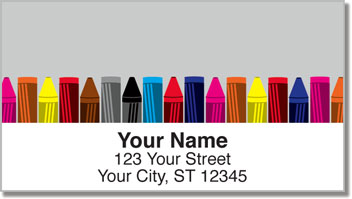 Cute Crayon Address Labels