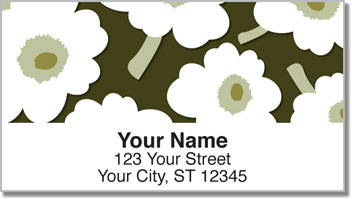 Big Floral Address Labels