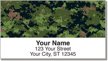 Digital Camo Address Labels