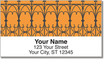 Wrought Iron Fence Address Labels