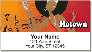 Motown Address Labels