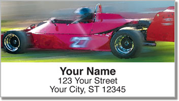 Car Racing Address Labels