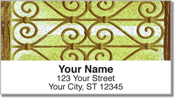 Artistic Iron Address Labels