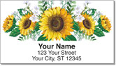 Sunflowers of Peace Address Labels