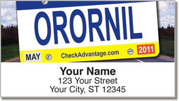 License Plate Address Labels