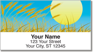 Wheat Field Address Labels