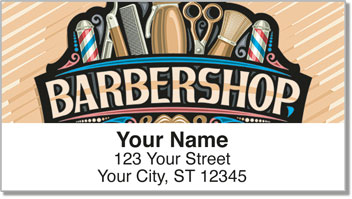 Barbershop Address Labels