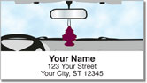 Car Mirror Decor Address Labels