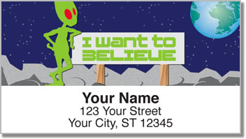 Alien Life Address Labels