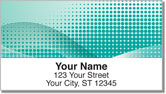 Dot & Swirl Address Labels