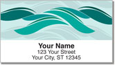 Stylized Wave Address Labels