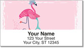 Fun Flamingo Address Labels