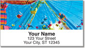 Amusement Park Address Labels