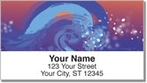 Painted Wave Address Labels