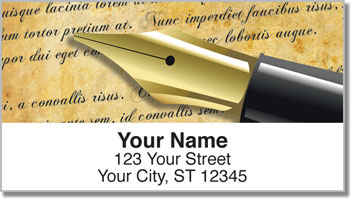 Fountain Pen Address Labels
