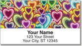 Retro Shape Address Labels