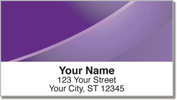 Colorful Curve Address Labels