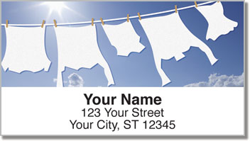 Laundry Day Address Labels