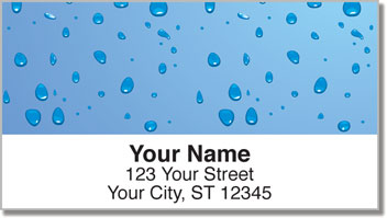 Water Droplet Address Labels