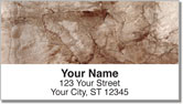 Weathered Paper Address Labels