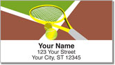 Tennis Pro Address Labels