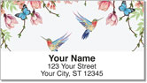 Colorful Hummingbird Address Labels