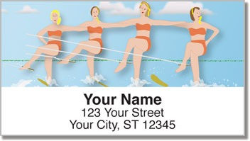 Waterskiing Address Labels