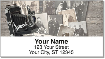 Vintage Camera Address Labels